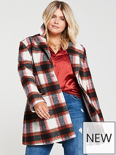 v-by-very-curve-printed-button-front-coat-check
