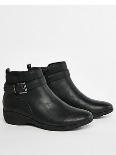 evans-evans-wide-fit-amanda-buckle-detail-ankle-boot