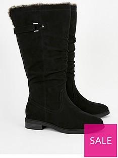 evans-evans-wide-fit-lorelei-fur-trim-low-heel-tall-boot