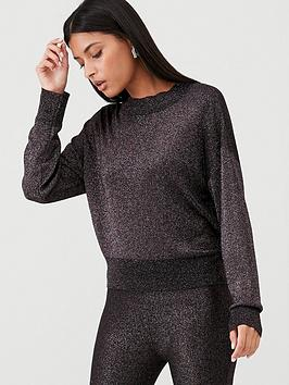 v-by-very-co-ord-metallic-boxy-jumper-rose-pink