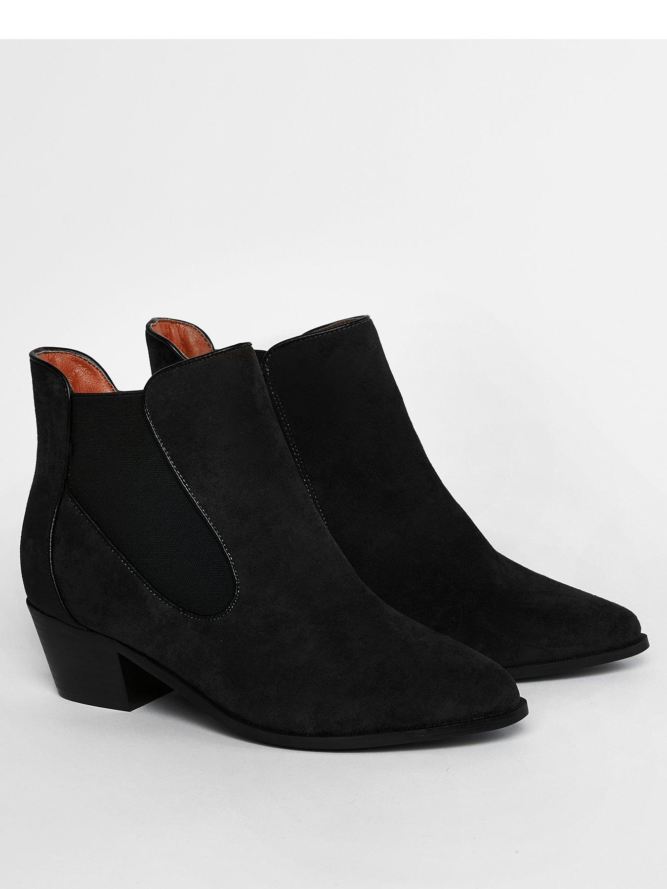 Ankle Boots   Black   Casual   Clothing