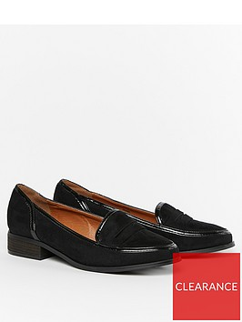evans-extra-wide-fit-russel-loafers-black