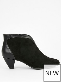 evans-extra-wide-fit-arabia-v-cut-out-shoe-boots-black