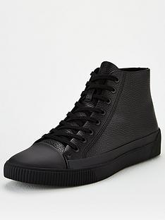 hugo-zero-hi-top-plimsolls-black