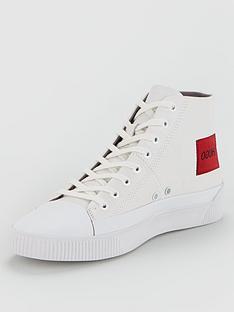 hugo-zero-hi-top-plimsolls-white