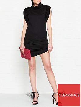 vivienne-westwood-anglomania-punkature-short-sleeve-jersey-dress-black