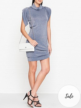 vivienne-westwood-anglomania-punkature-short-sleeve-lurex-dress-blue