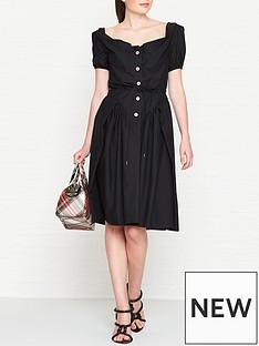 vivienne-westwood-anglomania-short-sleeve-saturday-dress-black