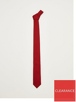 hugo-logo-silk-tie-red