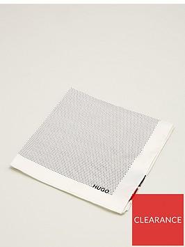 hugo-polka-dot-pocket-square-white