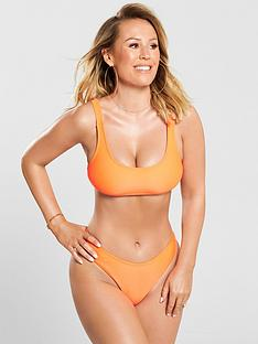27e0acbd24f Kate Wright Mix & Match Built Up Shoulder Bikini Top - Orange