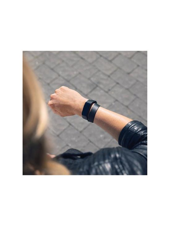 Inspire HR Accessory Band, Double Leather Wrap, Black, One Size - Fitness  Tracker Not Included