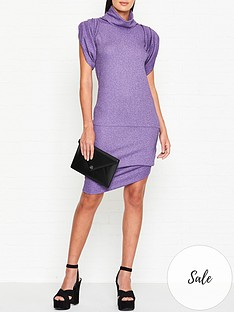 vivienne-westwood-anglomania-punkature-lurex-short-sleeve-dress-lilac
