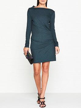 vivienne-westwood-anglomania-mini-taxa-lurex-long-sleeve-dress-green