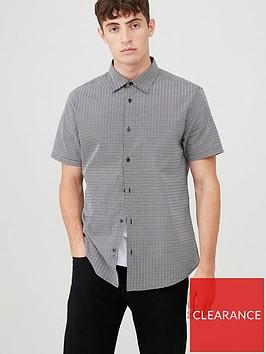 very-man-short-sleeved-geo-print-shirt-blackwhite