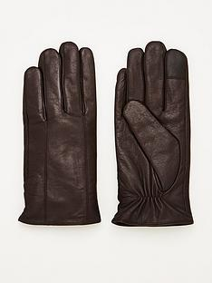 v-by-very-smart-leather-gloves-brown