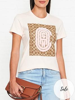 coach-bubble-logo-and-signature-print-t-shirt-pink