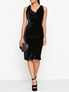 vivienne-westwood-anglomania-virginia-velvet-cowl-neck-dress-black
