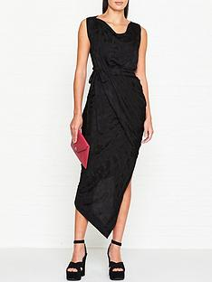 vivienne-westwood-anglomania-vian-draped-floral-jacquard-dress-black