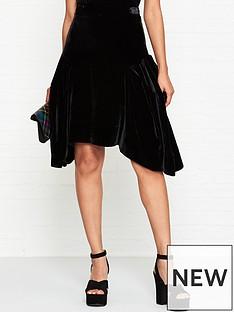 vivienne-westwood-anglomania-violet-velvet-midi-skirt-black