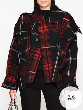 vivienne-westwood-anglomania-hypnos-tartan-jacket-blackred