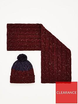 very-man-nep-hat-amp-scarf-set-burgundy