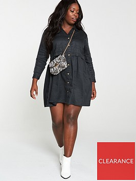 v-by-very-curve-shirt-dress-grey-wash