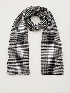 v-by-very-prince-of-wales-checked-scarf-grey