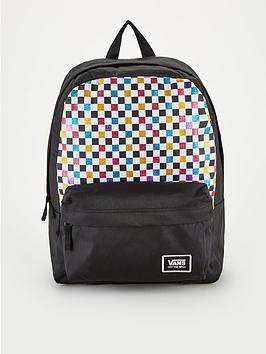 vans-glitter-check-realm-backpack-blackmulti