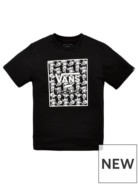 ec47132c972d46 Vans Skulls Print Box T-shirt - Black | very.co.uk