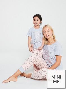disney-frozen-frozen-mum-and-daughter-mini-me-ladies-pyjamas-pinkgrey
