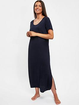 evans-navy-plain-nightdress