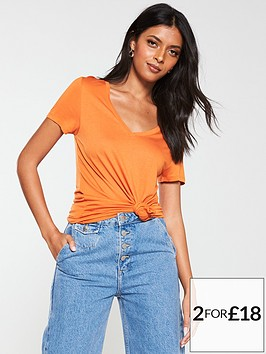 v-by-very-the-v-neck-tee-orange
