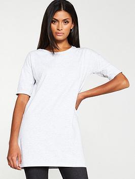 v-by-very-the-essential-short-sleeve-longline-top-greynbspmarl