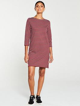v-by-very-the-essential-three-quarter-sleeve-dress-stripe