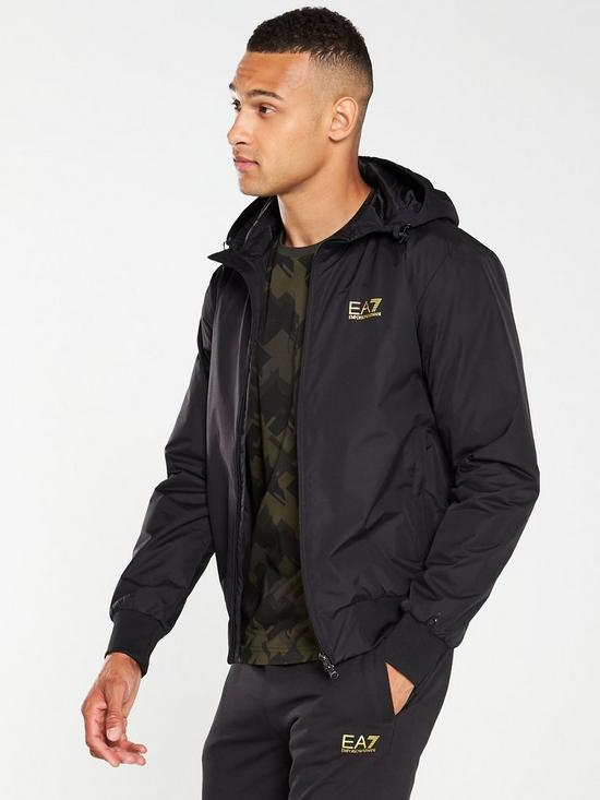 ff98db8a Core ID Hooded Jacket - Black