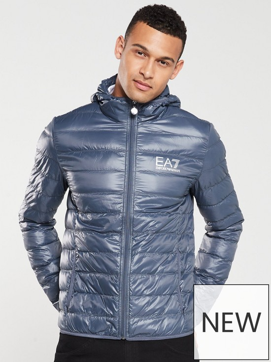 9705221d Core ID Hooded Padded Jacket - Cobalt Grey