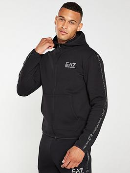 ea7-emporio-armani-tape-print-zip-through-hoodie-black