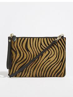 warehouse-leather-tiger-top-zip-bag-animal-print