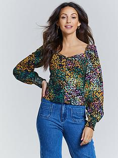michelle-keegan-button-front-long-sleeve-blouse-multi-animal
