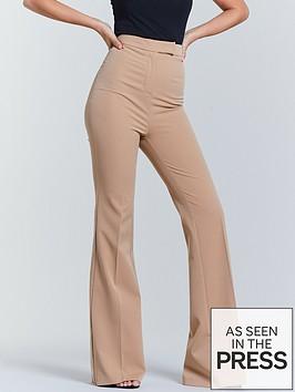 michelle-keegan-flared-trouser-camel
