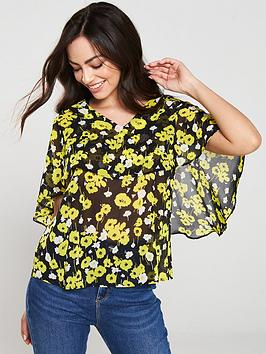 v-by-very-cape-sleeve-v-neck-blouse-floral