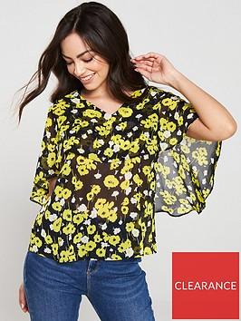 v-by-very-cape-sleeve-v-neck-blouse-floral