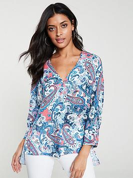 v-by-very-notch-neck-longline-blouse--nbsp-paisley-print