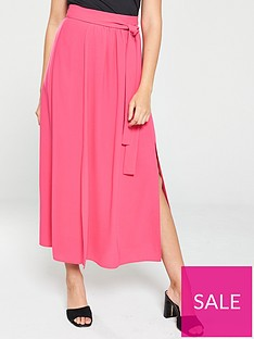 v-by-very-split-side-midi-skirt-pink