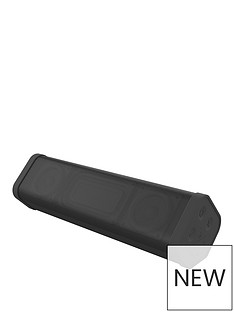 Kitsound BoomBar 2+ Wireless Bluetooth Portable Speaker with Call-Handling and up to 10 hours Play Time - Black