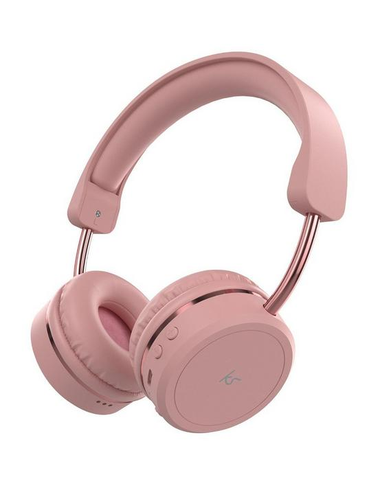 d3af944c95a Kitsound Metro X Wireless Bluetooth On-Ear Headphones with Call Handling -  Pink