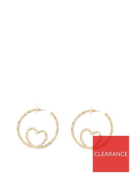 river-island-river-island-heart-insert-hoop-earrings-gold