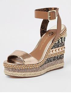river-island-river-island-multi-embellished-wedges-tan