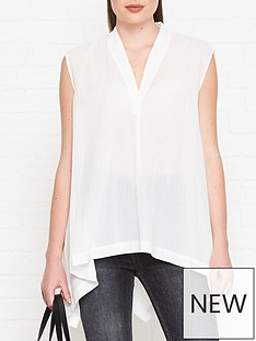 allsaints-avee-v-neck-top-white